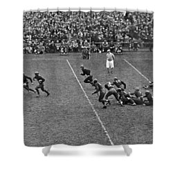 Notre Dame Versus Army Game Shower Curtain by Underwood Archives