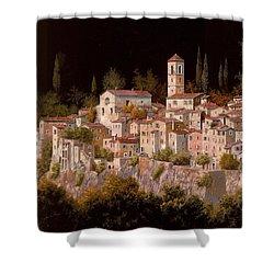 Notte Senza Luna Shower Curtain by Guido Borelli