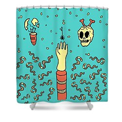 Nowhere Fast Shower Curtain by Freshinkstain