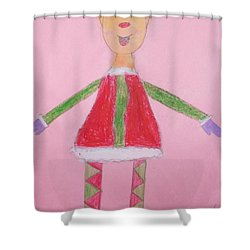 Number One Elf  Shower Curtain by PainterArtist FIN