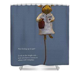 Nurse Mouse Shower Curtain by Sally Weigand