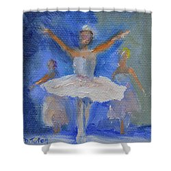 Nutcracker Ballet Shower Curtain by Donna Tuten