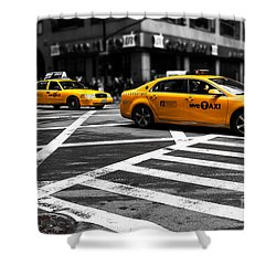 Nyc  Yellow Cab - Cki Shower Curtain by Hannes Cmarits