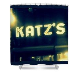 Nyc's Famous Katz's Deli Shower Curtain by Paulo Guimaraes