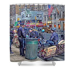 Nypd Highway Patrol Shower Curtain by Ron Shoshani