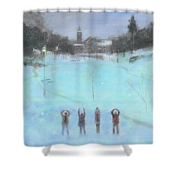 O-h-i-o Shower Curtain by Stan Fellows