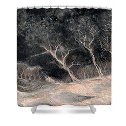 O2 Shower Curtain by Hans Neuhart