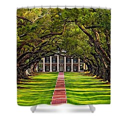 Oak Alley Shower Curtain by Steve Harrington
