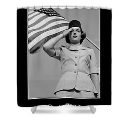 Oath Inspirational Quote Shower Curtain by Stocktrek Images