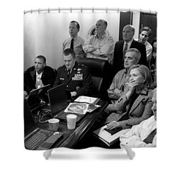 Obama In White House Situation Room Shower Curtain by War Is Hell Store