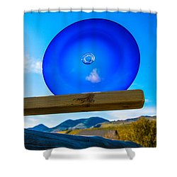 Observing The Future Shower Curtain by Omaste Witkowski