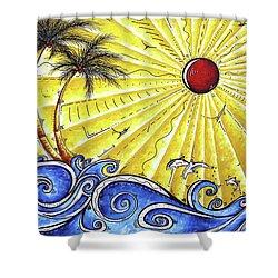 Ocean Fury By Madart Shower Curtain by Megan Duncanson