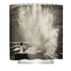 Ocean Motion Shower Curtain by Andrew  Hewett