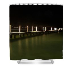 Ocean Pool By Night 2 Shower Curtain by Kaye Menner