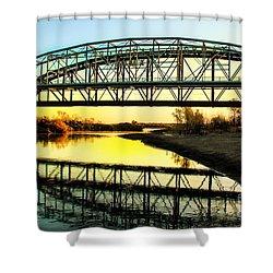 Ocean-to- Ocean Bridge Shower Curtain by Robert Bales