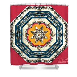 Ocean Waves - Mandakal 04cm22a Shower Curtain by Aimelle