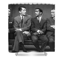 Ocean's Eleven Rat Pack Shower Curtain by Underwood Archives