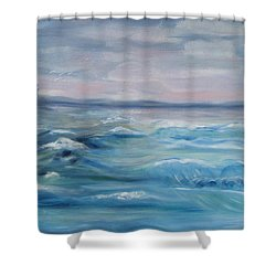 Oceans Of Color Shower Curtain by Diane Pape