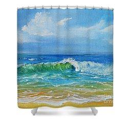 Oceanscape Shower Curtain by Teresa Wegrzyn