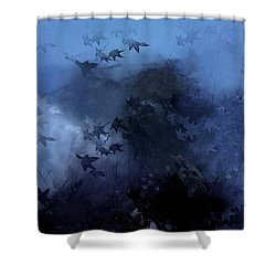 October Blues Shower Curtain by Gun Legler
