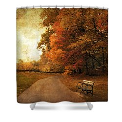 October Tones Shower Curtain by Jessica Jenney