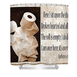 Ode To The Spare Roll Sepia 2 Shower Curtain by Andee Design