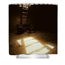 Of Light And Shadow Pecos Ruin Shower Curtain by Bob Christopher