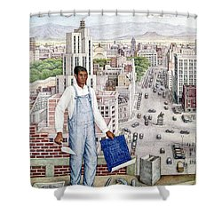 Ogorman: City Of Mexico Shower Curtain by Granger