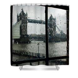 Oh So London Shower Curtain by Georgia Mizuleva