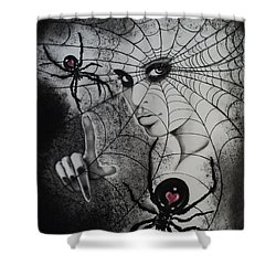 Oh What Tangled Webs We Weave Shower Curtain by Carla Carson