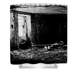 Oheka Castle Basement 1980 Shower Curtain by Ed Weidman