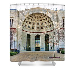 Ohio Stadium Main Entrance 1672 Shower Curtain by Jack Schultz