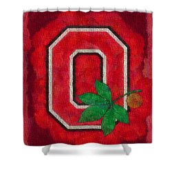 Ohio State Buckeyes On Canvas Shower Curtain by Dan Sproul