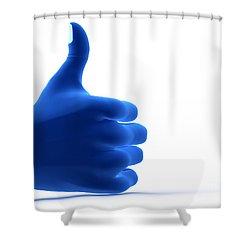 Okay Gesture Shower Curtain by Michal Bednarek