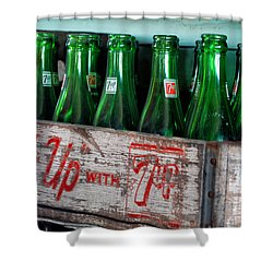 Old 7 Up Bottles Shower Curtain by Thomas Woolworth
