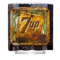Old 7 Up Sign Shower Curtain by Garry Gay