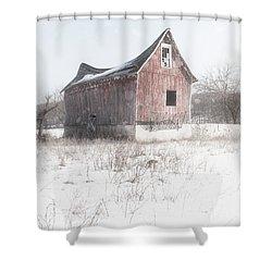 Old Barn - Brokeback Shack Shower Curtain by Gary Heller