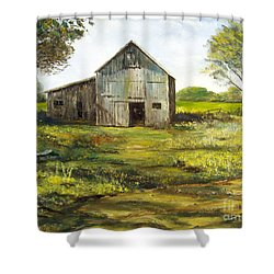 Old Barn Shower Curtain by Lee Piper