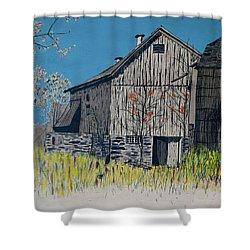 Old Barn Shower Curtain by Linda Simon