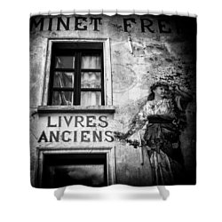 Old Books Shower Curtain by Dave Bowman