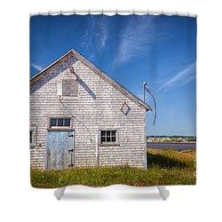 Old Building In North Rustico Shower Curtain by Elena Elisseeva