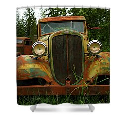 Old Cars Left To Decorate The Weeds Shower Curtain by Jeff Swan