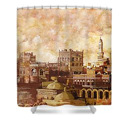 Old City Of Sanaa Shower Curtain by Catf