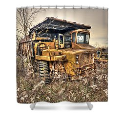 Old Construction Truck Shower Curtain by Dan Friend