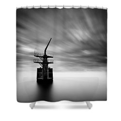 Old Crane Shower Curtain by Dave Bowman