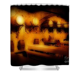 Old European Wine Cellar Shower Curtain by John Malone
