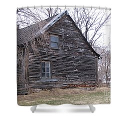 Old Farm Yamachiche Shower Curtain by Line Gagne