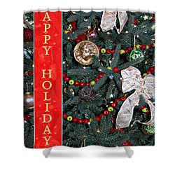 Old Fashioned Christmas Shower Curtain by Carolyn Marshall