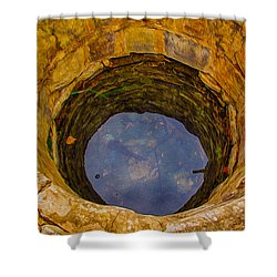 Old Fashioned Well Abstract Shower Curtain by Omaste Witkowski