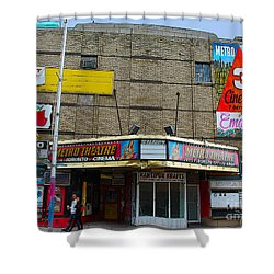 Old Film Theatre In Decay Shower Curtain by Nina Silver